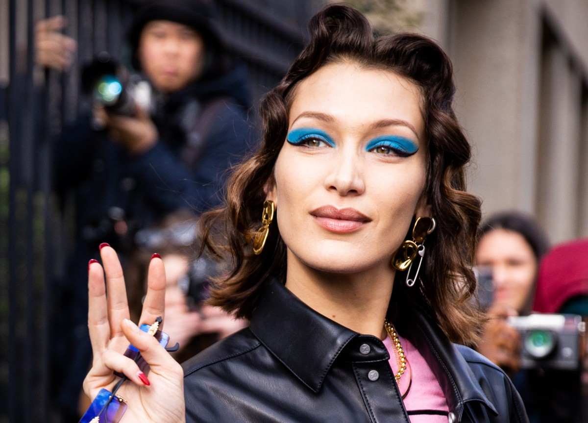 Bella Hadid attends an event CLAUDIO LAVENIA